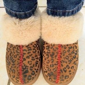 UGG Cuffed Leopard Booties